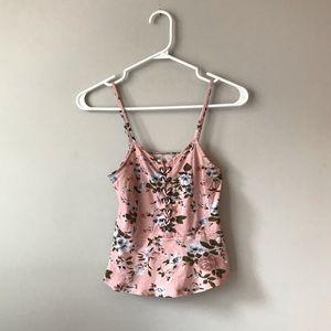 🦋3/50$ Peplum soft floral crop top